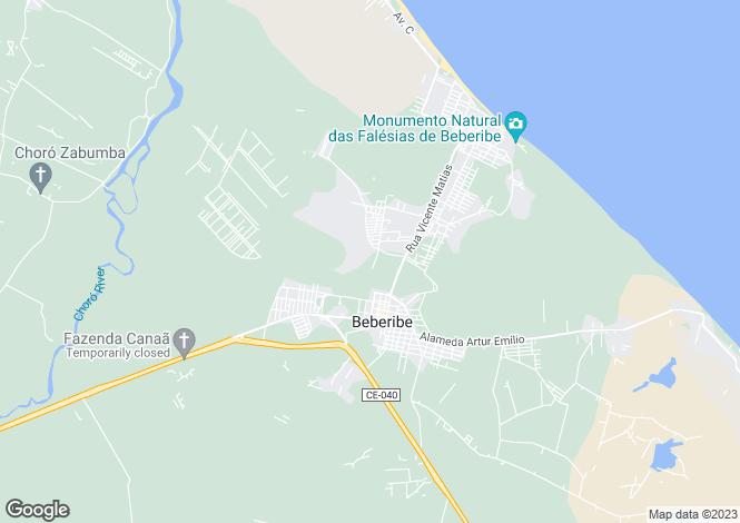 Map for Ceará, Beberibe