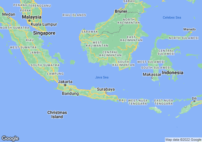 Map for Bali, Jimbaran