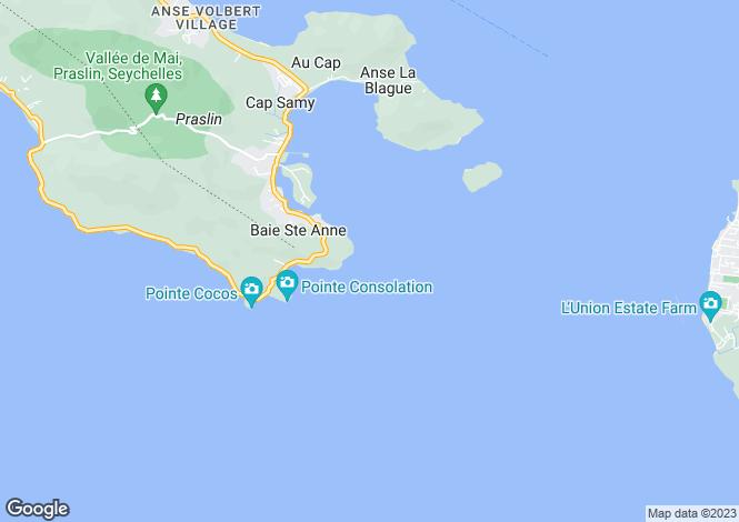 Map for Petite Anse, Mahé Island, Seychelles
