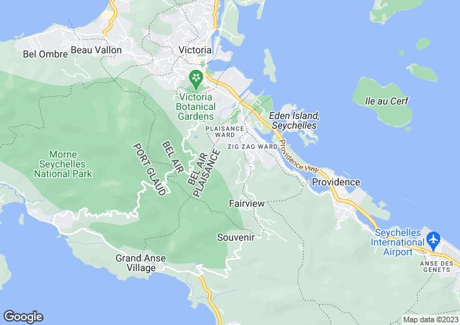 Map for Eden Island, Mahé, Seychelles