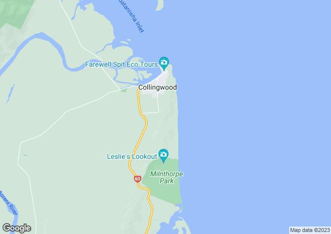 Map for Collingwood, Tasman, Nelson