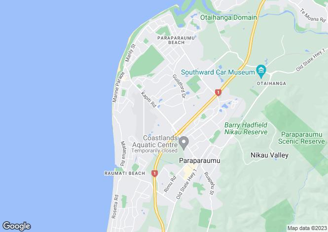 Map for Manawatu-Wanganui, Kapiti Coast