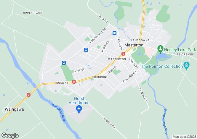 Map for 180 Chapel Street, Masterton 5810