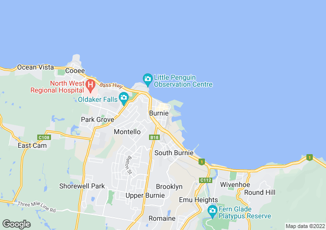 Map for 35 - 42a Bass Highway, BURNIE 7320