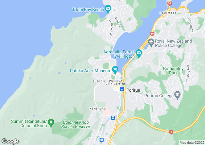 Map for Wellington