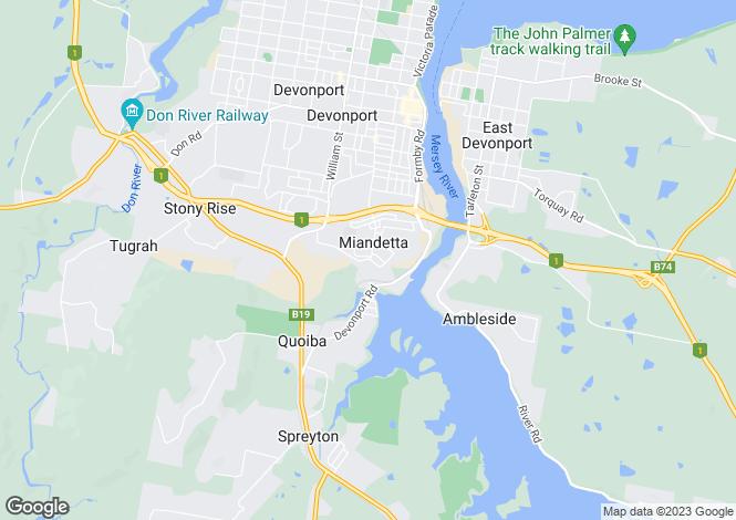 Map for 12 Langslow Drive, MIANDETTA 7310