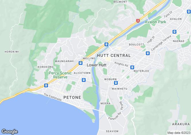 Map for Wellington, Lower Hutt, Lower Hutt