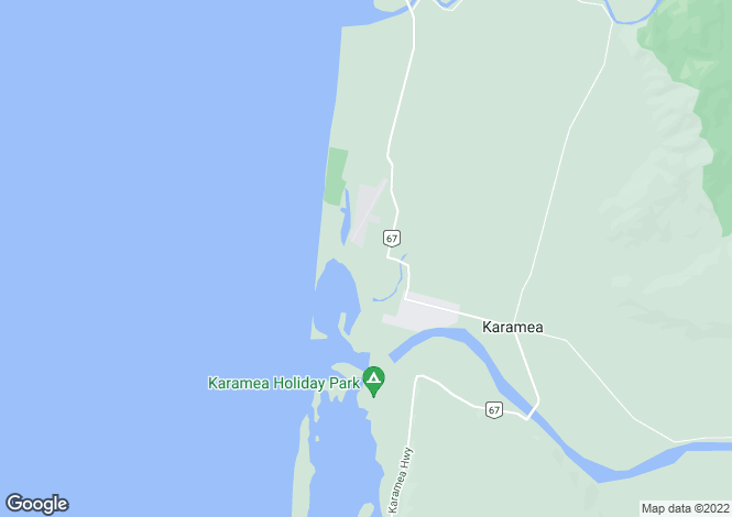 Map for Karamea, West Coast