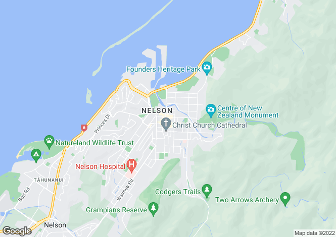 Map for Nelson, Nelson