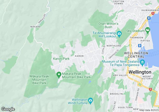 Map for 27 Paddington Grove, Karori 6012