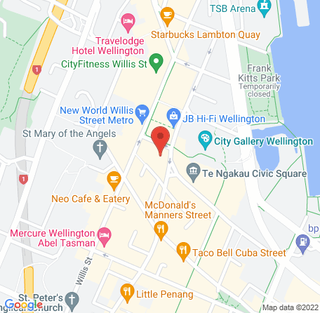 Map showing directions to Chrometoaster's office.