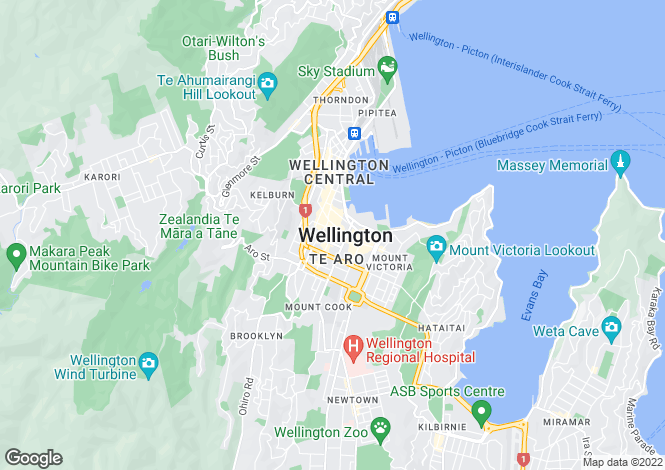 Map for Wellington, Wellington