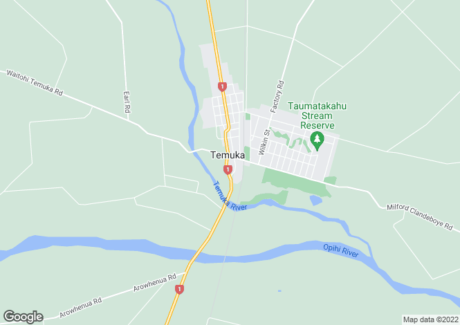 Map for Temuka 7986