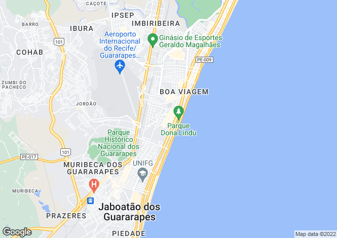 Map for Recife, Pernambuco