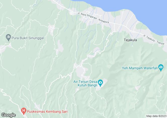 Map for Tejakula, Bali