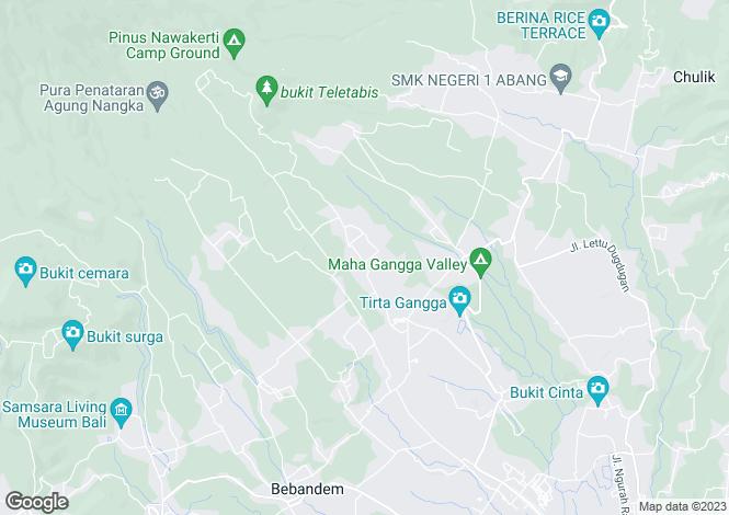 Map for Karangasem, Bali