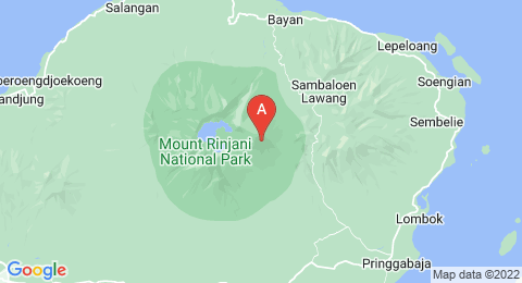 map of Mount Rinjani (Indonesia)