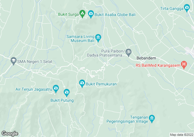 Map for Mambo Sun, Sekotong, Lombok, Indonesia