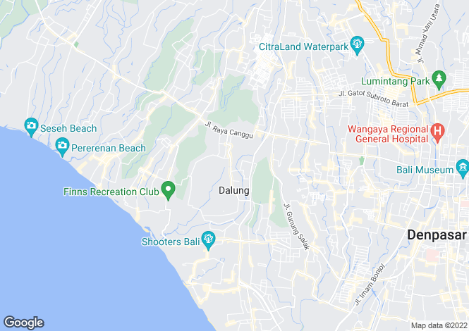 Map for Kerobokan, Bali