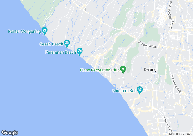 Map for Bali, Canggu