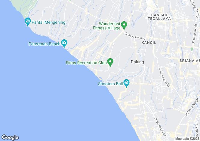 Map for Bali, Kerobokan