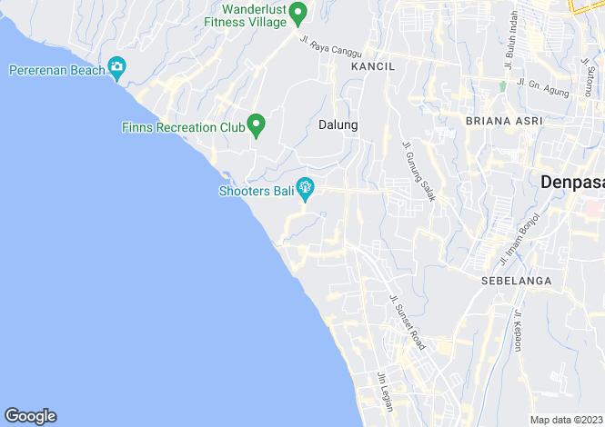 Map for Bali, Denpasar