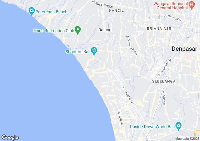 Map for Seminyak, Bali