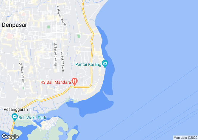 Map for Sanur, Bali