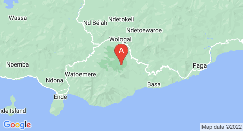 map of Kelimutu (Indonesia)