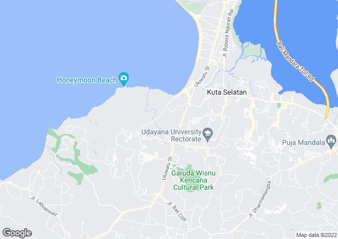 Map for Jimbaran, Bali