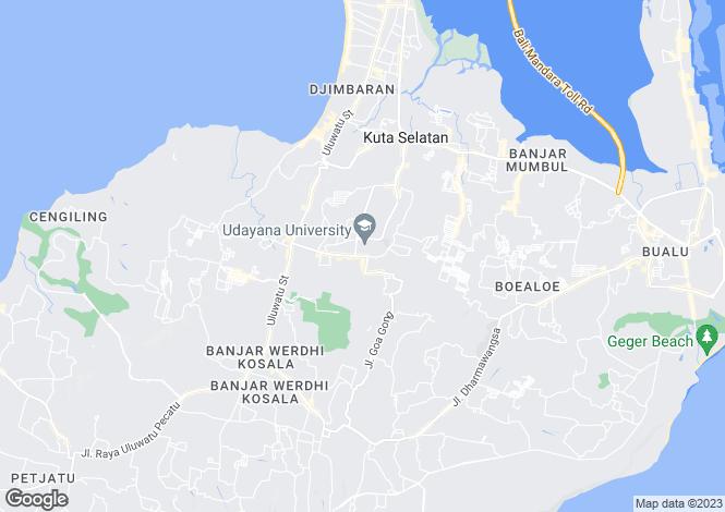 Map for Bali, Goa Gong