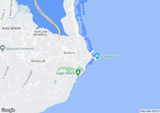 Map for Bali, Nusa Dua