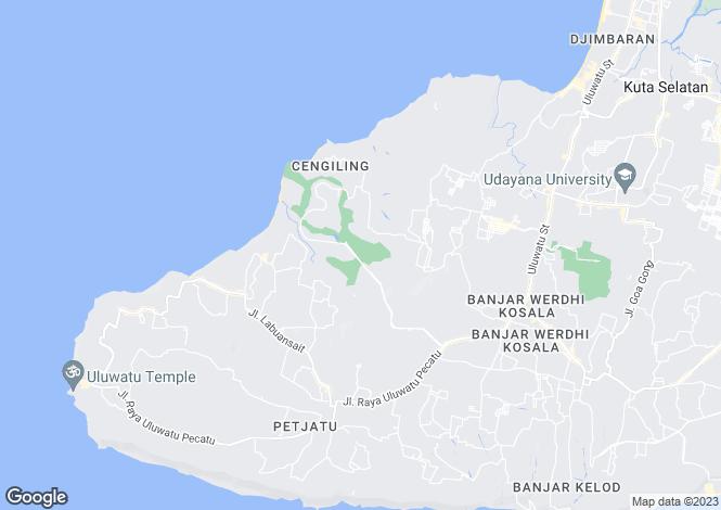 Map for Bali, Bukit