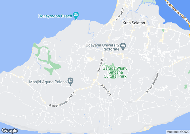 Map for Bukit, Bali