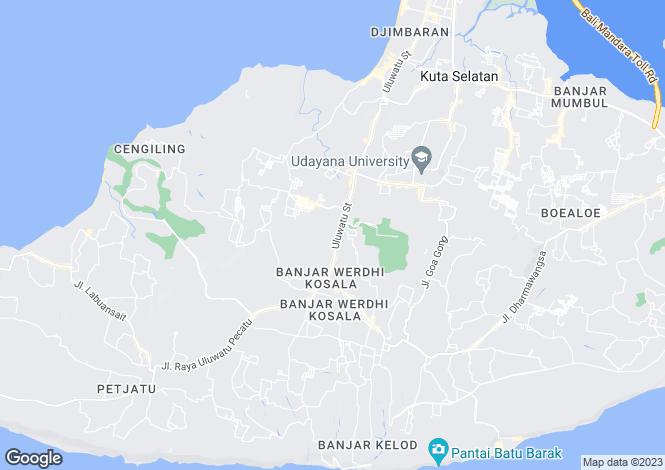 Map for Bukit, Bali