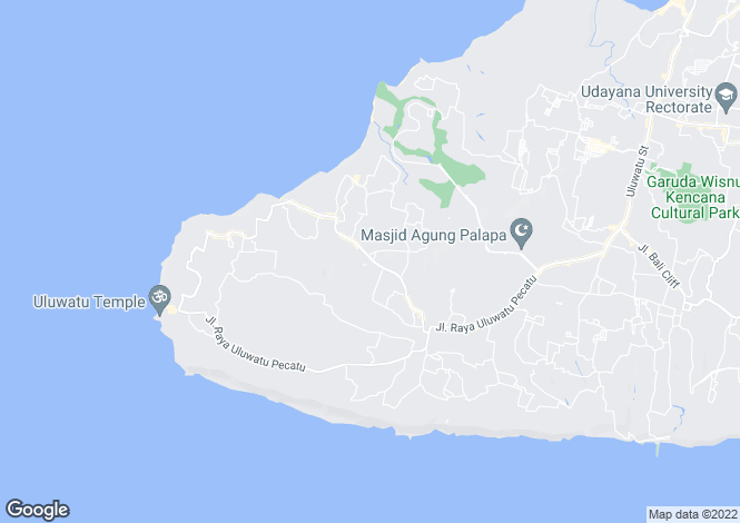 Map for Pecatu, Bali