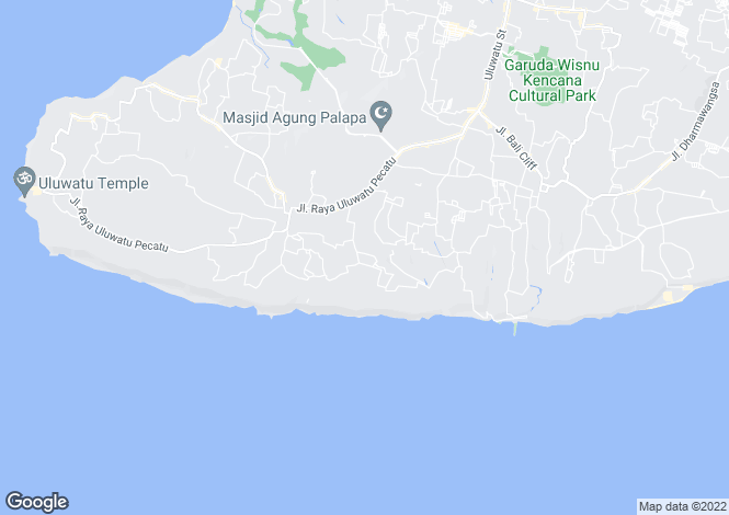 Map for Bali, Bukit