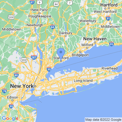 Map of truck driving jobs in Stamford, Connecticut