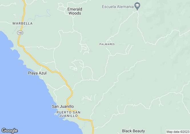 Map for Nicoya