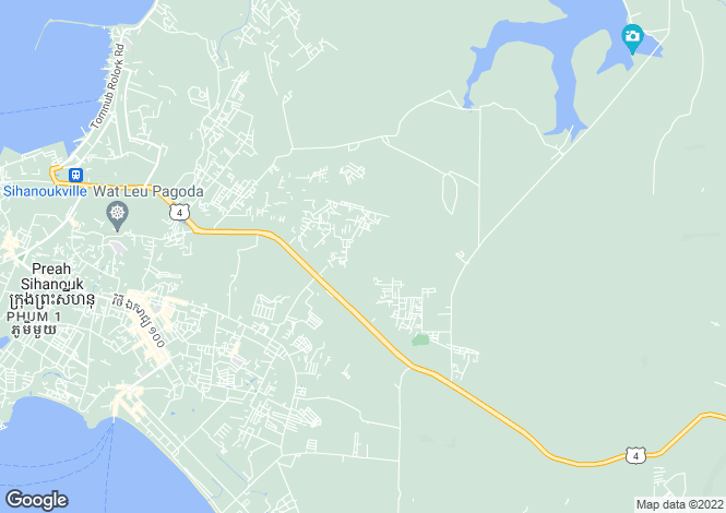 Map for Koh Russey, Sihanoukville, Cambodia
