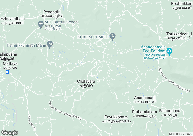 Map for Kerala, Ottappalam