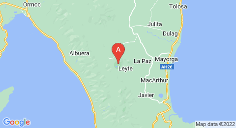 map of Mahagnao Volcano (Philippines)