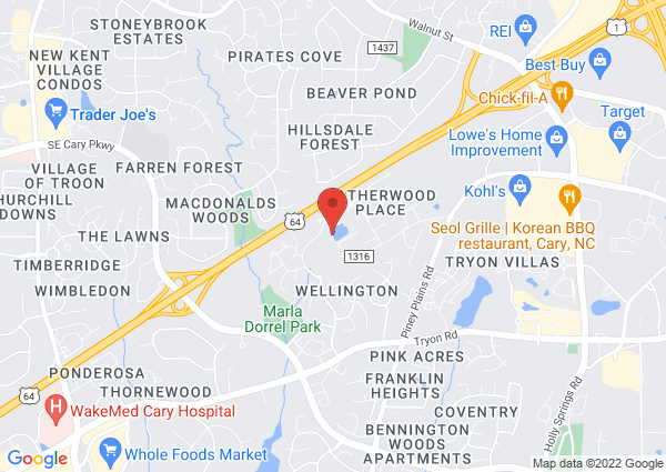 Map of 1000 Forest Park Way, Cary, NC, USA