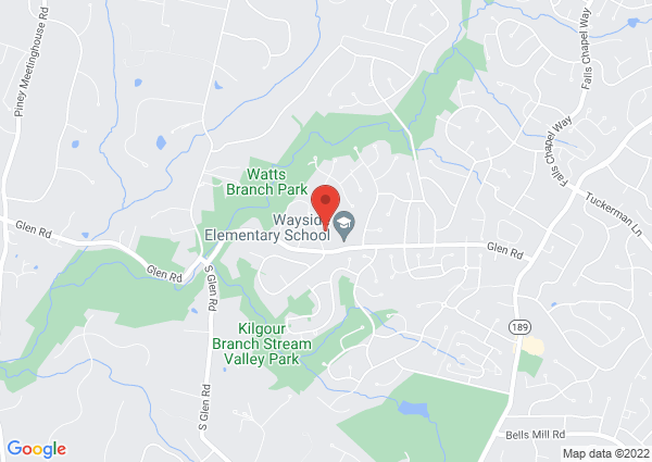 Map of 10055 Glen Road, Potomac, MD, USA