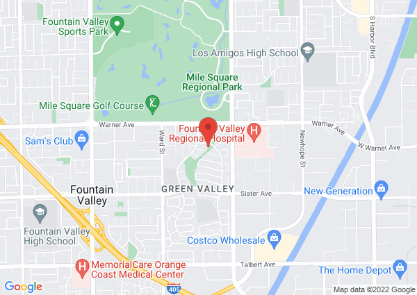 Map of 10824 Los Jardines E, Fountain Valley, CA, United States