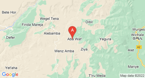 map of Amba Geshen (Ethiopia)