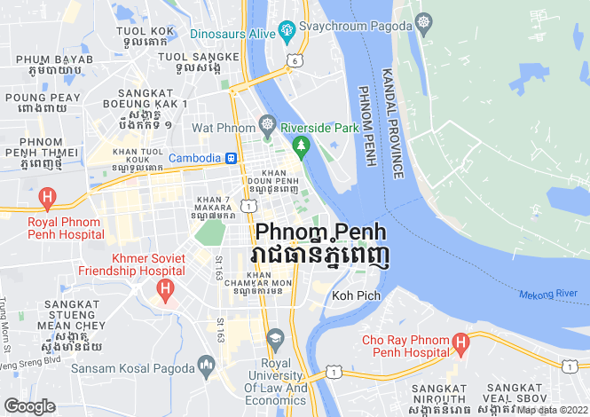 Map for Phnum Pénh