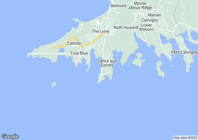 Map for Lawn House, Prickly Bay Waterside, L'Anse Aux Epines, St George's, Grenada