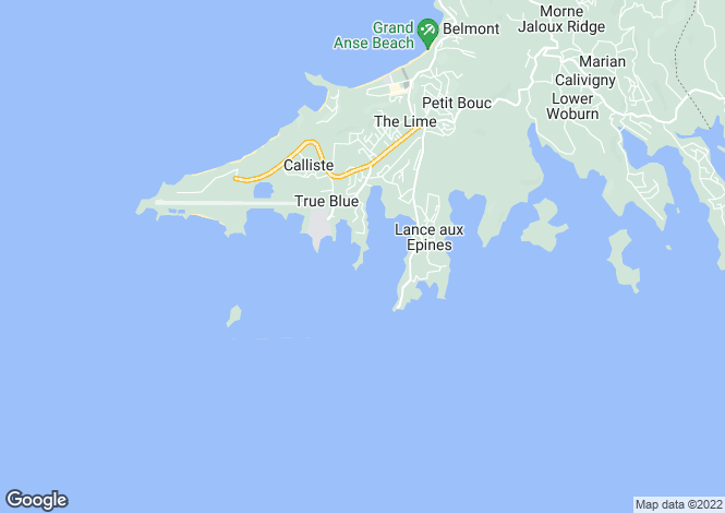 Map for Seamoon Waterfront Cottages - Grenada, Lance aux Epines