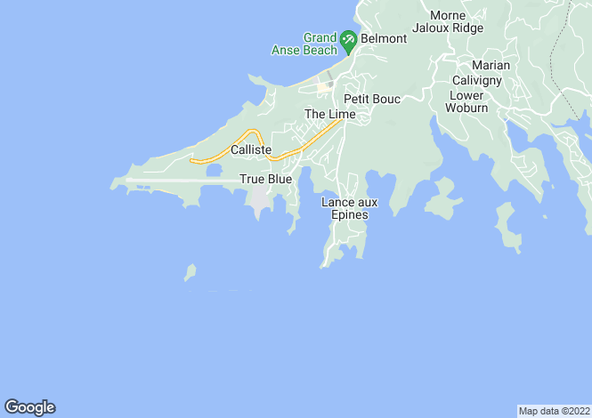 Map for St George`s